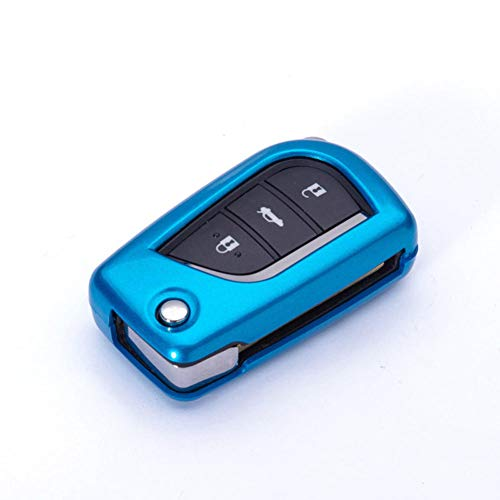 SFHJKD Cubierta de la llave del coche cubierta de protección de la llave accesorios del interior del coche, para Toyota Auris Corolla Avensis Verso Yaris Aygo Scion TC I'm 2015 2016