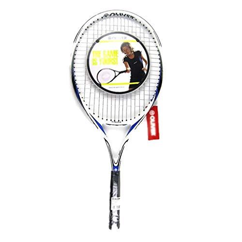 Raquetas De Tenis De Carbono Completo para Hombres Y Mujeres Raqueta De Entrenamiento De Tenis Raqueta De Práctica para Principiantes (Color : Black, Size : 69cm/27 Inches)