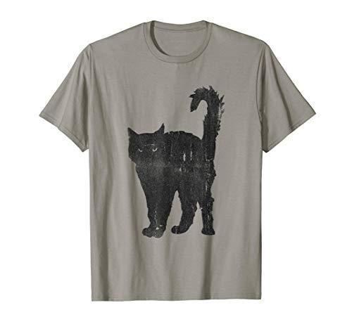 Awesome Punk Rock Black Cat T-Shirt Mens & Womens