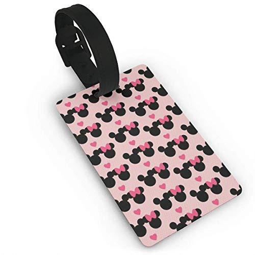 Etiquetas de equipaje de Mickey Mouse Love Minnie para maleta de mano, etiqueta de identificación de viaje para equipaje