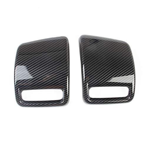 BENGKUI WUWENJIE 2 Teile/Satz Auto ABS Kohlefaser Rückseite Rücklicht Bremslampe Abdeckung Trim Fit für Dodge RAM 1500 2019 2020 2021 Auto Styling (Color : Carbon Fiber Pattern)