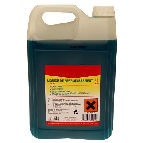 TOPCAR OCLAIR - Bidon de 5 litres de Liquide de Refroidissement -25°C - LR25005OC