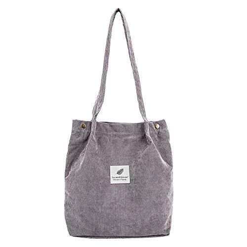 Lanskirt Shoppers y Bolsos de Hombro Para Mujer Pana Color Sólido Bolsa de Bandolera Bolso de Mano Satchel Bolsas de Viaje Moda