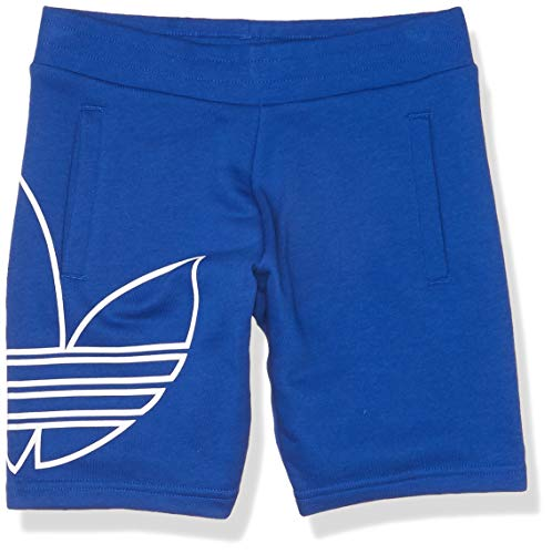 adidas Originals Pantalones cortos de trébol unisex para jóvenes - azul - X-Large