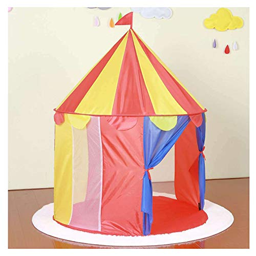 YOUCAI Childrens Yurt Style Teepee Play Tent Pop Up Foldable Castle Tent Children Indoor Outdoor Playhouse with Storage Bag for Boys Girls RedY One Size