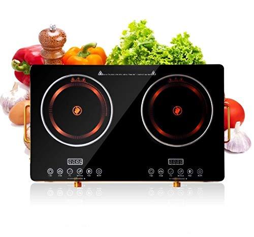Meneflix Portable Double Cook-top Induction Stove Counter top Burner, 5000-Watt Smart Touch Sensor...