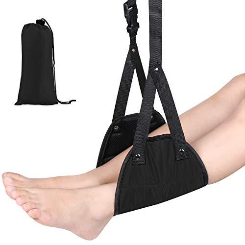 Nosii Draagbare reisaccessoire voor vliegtuig-voetensteun-hangmat voorkomt zwellingen en pijn tijdens de vlucht