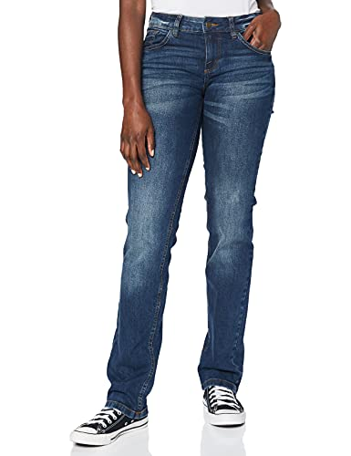 TOM TAILOR Straight Alexa, jeans dritto Donna, Blu (Mid Stone Wash Denim 10281), W29/L30 (Talla produttore: W29/L30)