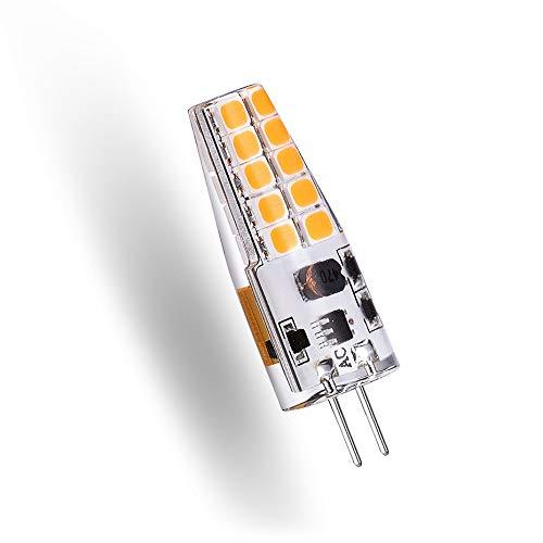 10 bombillas LED G4 superbrillantes SMD2835 12V 3W ángulo de 360 grados haz LED lámpara de iluminación para el hogar de cristal reemplazo de 30W luz halógena