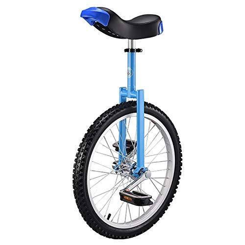 TTRY&ZHANG Unicycle de la Rueda de 20 Pulgadas para niños/Principiante/Adolescente Masculino, con llanta de aleación y Soporte a Prueba de Hijos y uniciclos, diversión Fitness Balance Cycling