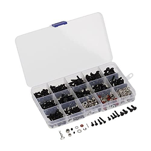 lahomia 500PCS RC M3 Tornillos Pin Tuercas O Rings para 1/8 1/10 1/12 RC Crawler Parts