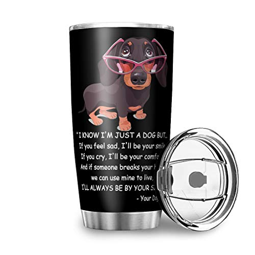 Dog Glasses Smile Comfort 20oz Tumbler Double Wall Vacuum Insulated Stainless Steel with Flip Lid Travel Cup Water Bottle keep Drinks Cold & Hot Home Office Party Tumbler Mug Best white 30oz
