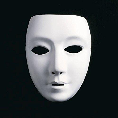 NET TOYS Neutrale Frauengesicht Maske Weiße Frauenmaske Ballmaske Phantom Maske Opernmaske Karnevalsmaske Faschingsmaske