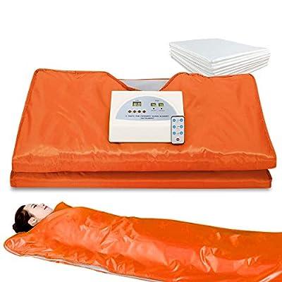 "VANELL Sauna Blanket Infrared, 71"" /75"" Length Upgraded Heat Far Infrared Blanket Digital Body Sauna Heating"