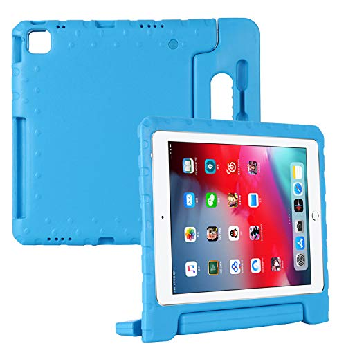 Coopts for iPad Pro 12.9 2020 Rugged Case iPad Pro 12.9 inch 4th Gen Cover 2020, Kids-Friendly Convertible Handle Kickstand Support Pencil Charging Shell with Pen Holder for iPad Pro 12.9 2020, Blue