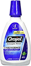 Orajel Antiseptic Mouth Sore Rinse 16 oz (Pack of 2)
