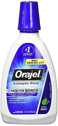 Orajel Antiseptic Mouth Sore Rinse 16 oz (Pack of 2)