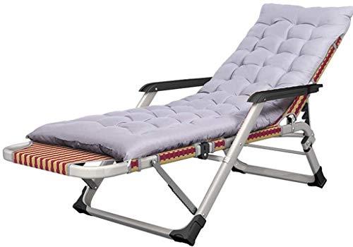 Candtong Buiten opklapbare ligstoel ligstoel bij het zwembad ligstoel aan het zwembad buiten Terras hebra tuin Terras opvouwbare Gazon ligstoel 200kg MAX