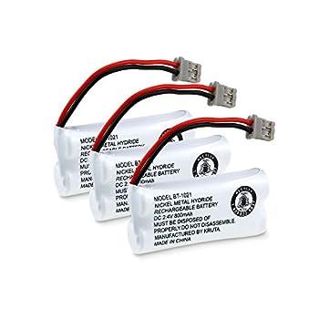 Kruta BT-1021 BBTG0798001 Compatible with Uniden BT-1021 BT1021 BT-1008 BT-1016 BT-1025 2.4V 800mAh Cordless Handset Phone Rechargeable Replacement Battery