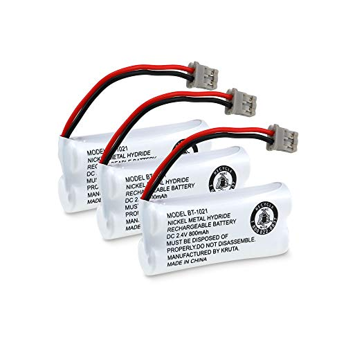 Kruta BT-1021 BBTG0798001 Compatible with Uniden BT-1021 BT1021 BT-1008 BT-1016 BT-1025 2.4V 800mAh Cordless Handset Phone Rechargeable Replacement Battery(3 Pack