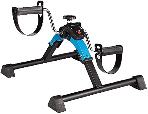 LCJD Mini LCD Plegable Bicicleta de Ejercicio Pedal Interior portátil Ejercitador Bicicleta Gimnasio Fitness Brazo y Pierna Entrenador Cardiovascular Resistencia Ajustable Máquina de Ejercicios c