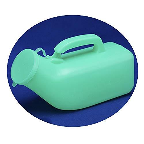 Urinal MAZHONGWU Grün,1200ml Männer, Große Kapazität,Smooth Flasche Mund,Komfortabel Zu Bedienen,Erwachsene Tragbare for Ältere Menschen,Familie/Fern Auto/Pflege/Outdoor