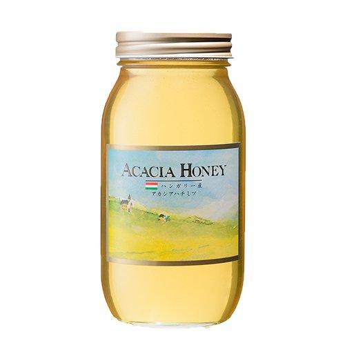 [熊手のはちみつ] ハンガリー産アカシア はちみつ (1kg瓶) 100%純粋 ハチミツ 蜂蜜