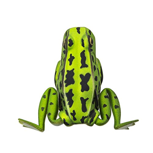 Lunkerhunt Popping Frog Fishing Lure, Green...
