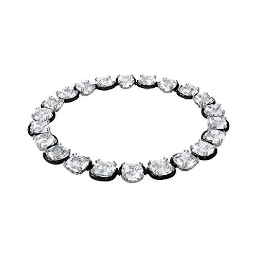Swarovski Harmonia Halsband, Kristalle im Cushion-Schliff, Weiss, Metallmix
