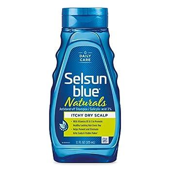 Selsun Naturals Blue Itchy Dry Scalp Ounce Naturals Citrus 11 Fl Oz