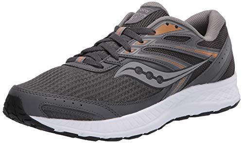 Saucony Men's Cohesion 13 Walking Shoe, Dark Grey/Orange, 8.5 M US
