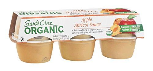 Santa Cruz Organic Apple Apricot Sauce Cup, 4 Ounce -- 72 per case.