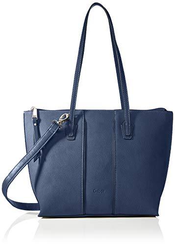Gabor bags Umhängetasche Damen Anni, Blau, M, Handtasche, Gabor Tasche Damen