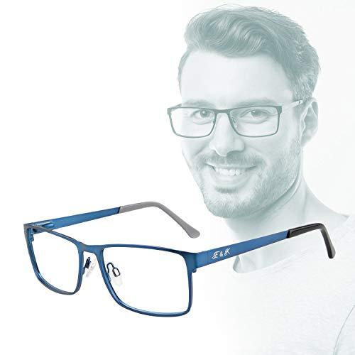 """Edison & King – Metalen leesbril met premium glazen en Bluelight-Protect: het """"Understatement"""""""