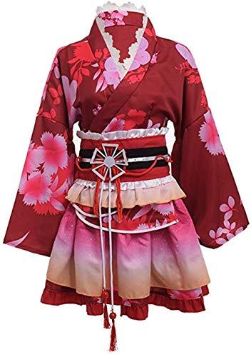 Japanse Stijl Zomer Leuke Meisjes Anime Yukata Kimono Kostuum Cosplay Set Kimono Badjas Jurk