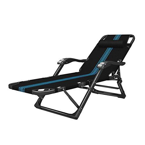 WYYY Bureaustoel, ligstoel, inklapbaar, draagbaar, voor camping, strand, terras, tuin, ligstoel, robuust
