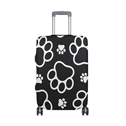 ALINLO - Funda protectora para maleta de equipaje con patrón de huellas de 18 a 32 pulgadas