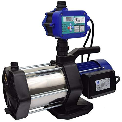 Agora-Tec® Hauswasserautomat Hauswasserwerk-5-1300-15DW mit Druckschalter (Ausschaltdruck einstellbar) sehr leise