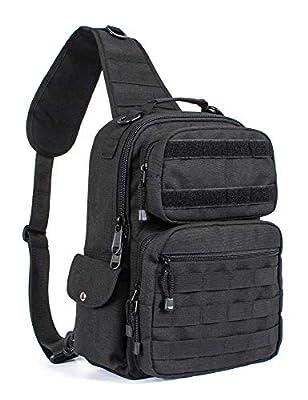 Leaper Military Tactical Backpack Assault Pack Sling Bag Molle Backpack Out Bag Black
