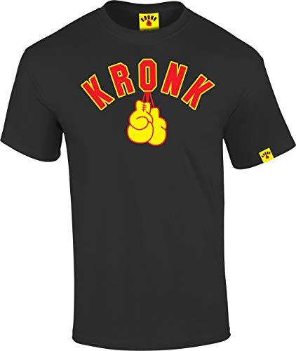 KRONK Handschuhe T-Shirt Männer Normale Passform Schwarz und Gelb XXGroß
