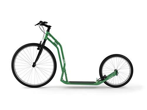Yedoo Five Tretroller - bis 130 kg, Kickscooter mit Luftreifen 26/20 - Roller Scooter für Erwachsene, Dogscooter (Green)
