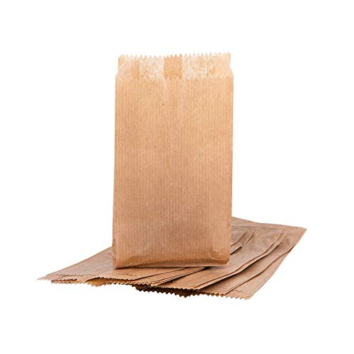 '100 x Kraft 3.5 'x6 – 90 x 40 x 170 mm Paper Gift Wedding Party Brown Paper Merchandise Sack Bags Lunch Storage Container Food FLAT Craft Takeaway Sandwich