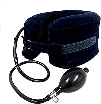 Cervical Neck Traction Device Inflatable with Adjustable Collar for Neck Relief