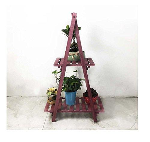 balcon pliage de fleurs de bois multicouche simple étage bonsaïs fleur de vie moderne ( Couleur : Violet )