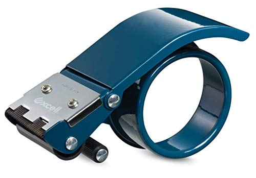 WOD Excell ET-266 Heavy Duty Metal Frame Filament Strapping Tape Dispenser: Fits 2 inch Wide, Blue