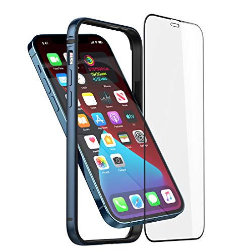 Slim Metal Bumper Case Compatible with iPhone 12 Mini, Phone Case with Soft TPU Inner [No Signal Interference][Support Wireless Charging] Compatible for iPhone 12 Mini, Blue