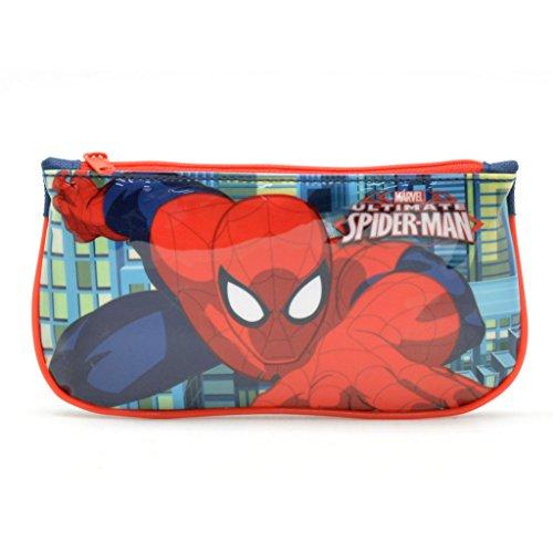 Spiderman Trousse en Toile Plate, Multicolore, 22x12