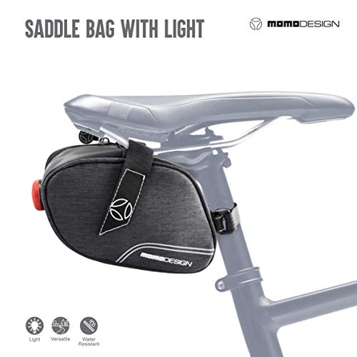 Save %13 Now! MOMODESIGN Bike • Saddle Bag with Light • Weather Safe • Bicycle Cycling Perfec...