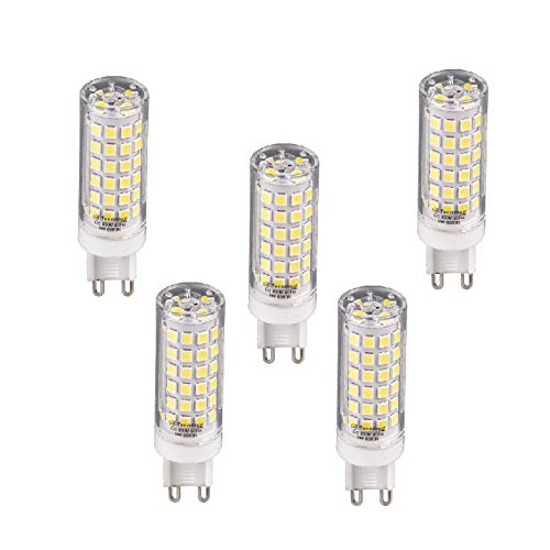 Lampadina LED G9 6400 K luce fredda 9 W 720 lm (5-unità)