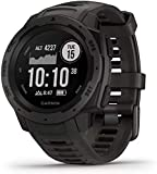 Garmin 010-02064-00 Instinct, Rugged Outdoor Watch with GPS, Features GLONASS and Galileo, Heart Rate Monitoring and 3-Axis Compass, Graphite, BROAGE Data Cable
